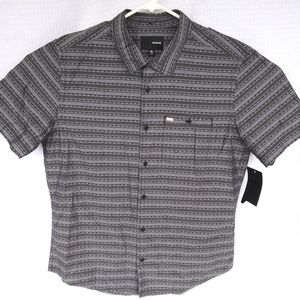 Hurley Striped Short Sleeve Button Up